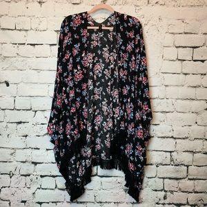 Lane Bryant Kimono w/Fringe Plus Size OS